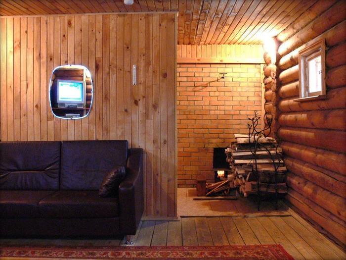 комната отдыха русской бани санатория.