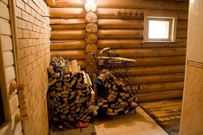 дрова для русской бани санатория Соколиный камень.